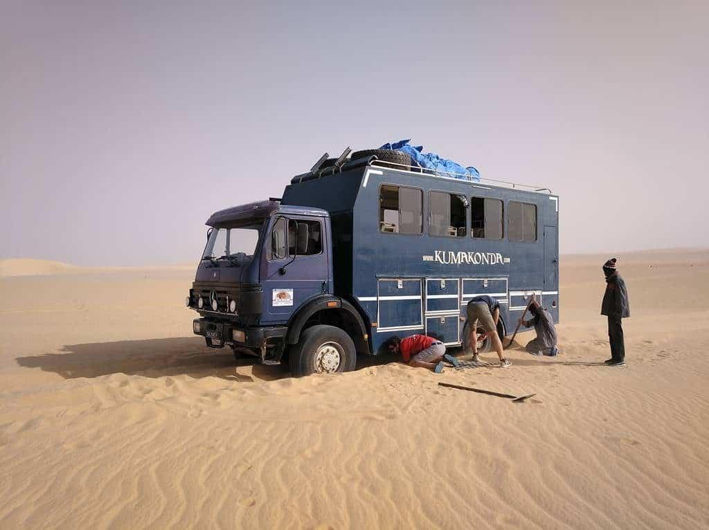 Atascados en la arena de Chad