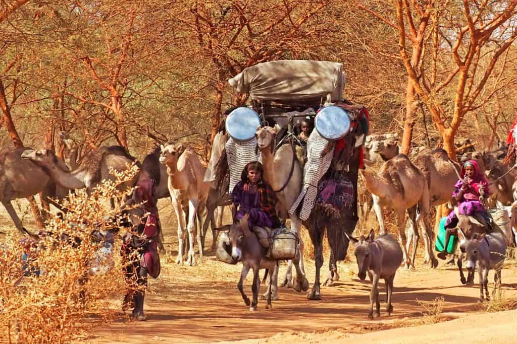 Arabs nomads in Chad