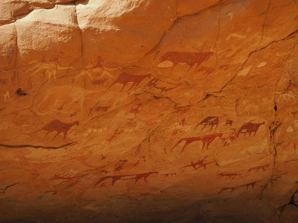 Cave paintings in Ennedi