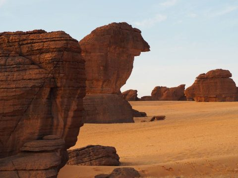 Rock formations Ennedi Chad